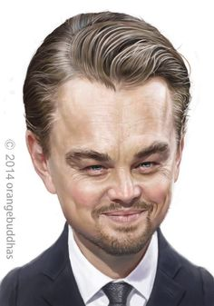Leonardo-DiCaprio carcature portrait painting, Orange Buddhas on ArtStation at… Leonardo Dicaprio, Dope Movie, Comic Face, Hollywood Music, Animated Cartoon Characters, Funny People Pictures, Caricature Drawing, Celebrity Caricatures, Tv Actors