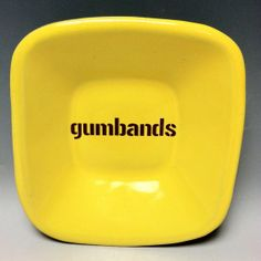 Gumbands Pittsburgh Pottery Square Ceramic Dish by PittsburghPottery, $16.00