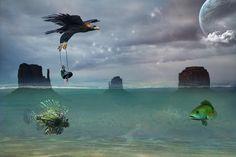 Le voyage by Martine Gaillard, via Behance