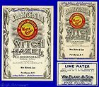 Old PORT BYRON NY Witch Hazel+ PHARMACY Medicine LABELS