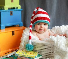 Baby Hats - Newborn Baby Hat  - Dr Seuss Baby Hat - Infant Hat, Toddler Winter Hat - Baby Photo Prop - Photography Props - Red White on Etsy, $34.00