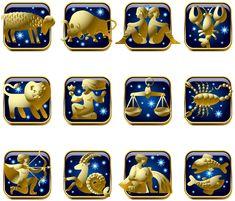 Синий и Золотой Знаки зодиака PNG клипарт изображения