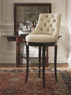 """Century Linden counter stool 3800C-5, choice of finish, fabric, leather.  Memory swivel standard.  20.75""""WX23.75""""DX39""""H.  Seat height 24.5"""", arm height 23""""."""
