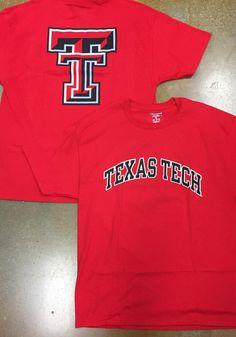 Champion Texas Tech Red Raiders Red Rally Loud Short Sleeve T Shirt - Image 2 Raiders Gifts, Raiders T Shirt, Tech T Shirts, Texas Tech Red Raiders, T Shirt Image, Short Sleeve Tee, Rally, Team Logo, Champion