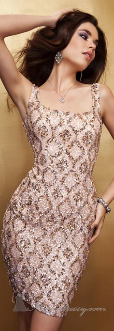 Sequined Mini-Dress by Scala Couture