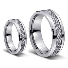 Men & Ladie's 8mm/6mm Tungsten Carbide Wedding Band Ring Set with Silver Carbon Fiber Inlay tungsten jeweler http://www.amazon.com/dp/B013538G9U/ref=cm_sw_r_pi_dp_lVqzwb0R3S4SF