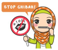 Bunga back again with new stickers that you can use everyday, let's use this stikers for you daily conversation Emoji People, Message Wallpaper, Hijab Drawing, Islamic Cartoon, Islamic Posters, Islam For Kids, Anime Muslim, Hijab Cartoon, Islam Beliefs
