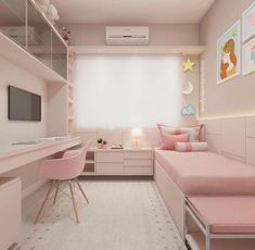 Trendy girl room décor | Looking for more girl's room inspirations? Check Circu Magical furniture and their exclusive design! Girl Room, Small Apartment Bedrooms, Pink Bedrooms, Teen Girl Bedrooms, Teen Bedroom, Bedroom Inspo, Dream Bedroom, Master Bedroom, Cute Rooms For Girls