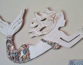 Mermaid Wall Art, Handmade Wood Mermaid, Beach House Decor, Coastal Art, Small Size, Made to Order, Choose your Options