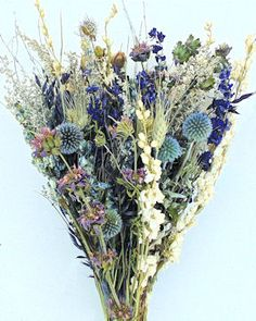 Dried Flower Bouquet - Blue Bunch