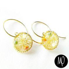 Zarcillos - Cristales - Baño de oro #zarcillos #earrings #cristales #crystals #bañodeoro #goldplated
