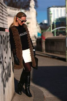 collected by Katja: gallery Ootd Fashion, Fashion Models, Swarovski Ring, 2014 Fashion Trends, Opaque Tights, Thomas Sabo, Watch Bracelets, Travel Style, Leather Skirt