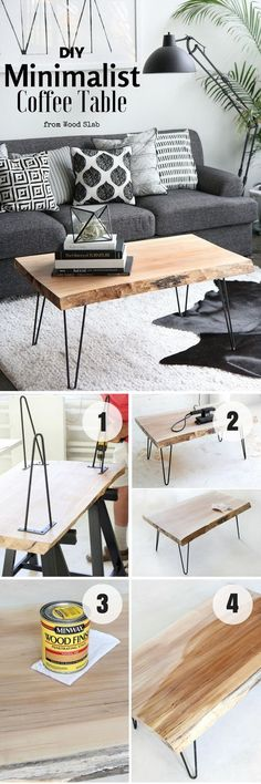 easy wood projects- DIY coffee table | Do you want to decorate your interior? cheap and without worries, there are interesting solutions