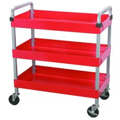 Maxworks 40105 Three-Tray Service Cart, 30-Inch Long by 16-Inch Wide, 350-Pound Capacity  $59 from Amazon