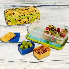 Fit & Fresh Kids' Bento Lunch Kit with Insulated Carrier #bento #fitfresh
