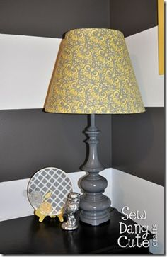 Yellow and Grey lamp @Nicole Novembrino White