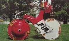 A pre-Lugano Charter Battaglin TT bike. Damn the UCI for putting the brakes on bicycle innovation in the mid 90s.