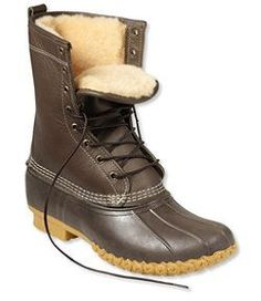"""#LLBean: Women's Bean Boots by L.L.Bean®, 10"""" Shearling-Lined   $230 - But they'll be very very warm, but could be great for winter camping"""