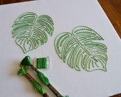 A hand embroidery pattern by needlework designer Kelly Fletcher