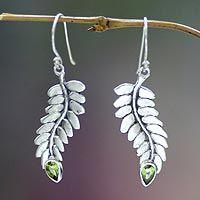 Peridot dangle earrings, 'Sweet Leaf' from @NOVICA, They help #artisans succeed worldwide.