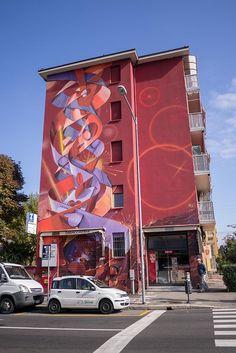 Colourful mural in Bologna