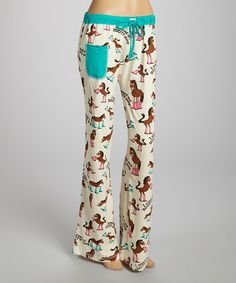 Look at this Lazy One Cream 'I Need My Booty Sleep' Pajama Pants - Women on #zulily today!