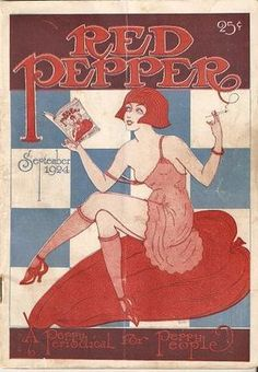 """Red Pepper Magazine c. 1924... a periodical for """"peppy"""" people."""