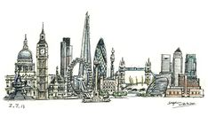 London montage - Original drawings, prints and limited editions by Stephen Wiltshire MBE Urban Landscape, Landscape Art, Stephen Wiltshire, Office Artwork, A Level Art, Amazing Drawings, Science Fiction Art, Street Art, Art Gallery