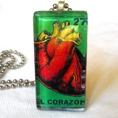 Items similar to El Corazon Mexican Lotteria Pendant on Etsy Mexican Birthday Parties, Birthday Party Themes, Loteria Cards, Domino Art, Mexican Art, Bottle Caps, My Precious, 30th Birthday, Bingo