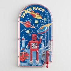 One of my favorite discoveries at WorldMarket.com: Space Race Pinball Toy