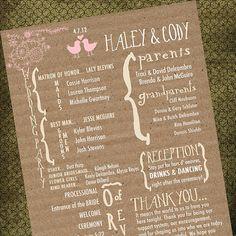 Rustic Vintage Wedding Program By MaKenzieNoelle On Etsy 5000