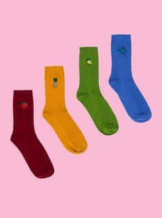 Fruit Sock 4-Pack OMGGG the blueberry socks for work xD