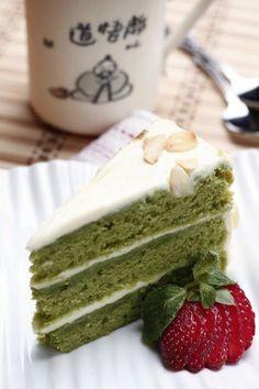 Green Tea Almond Cake