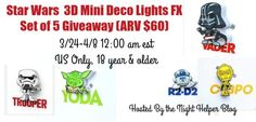 3D Mini Deco Lights Giveaway