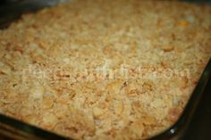Sour Cream Hash Brown Casserole with Ritz Cracker Topping