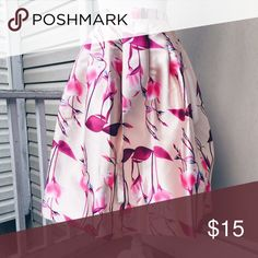 Host Pick 🎉🎊🎀🎉🎊🎀 Pink floral print skirt Skirts A-Line or Full