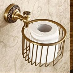 Antik Messing Papierhalter Korb Toilettenpapierhalter…