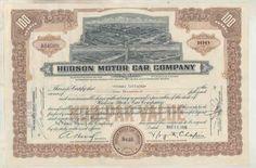 1936-Hudson-Automobile-ORIGINAL-100-Share-Factory-Stock-Certificate-wu6004