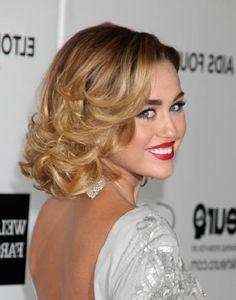 Miley-Cyrus'-Mid-Length-Bob- love the old hollywood makeup