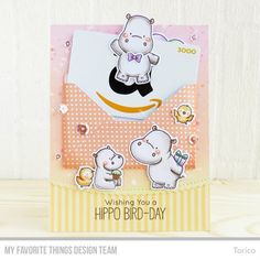 STAMPARADISE: Hippo Bird-Day! - MFT July New Product Launch