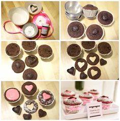 Valentine's Day Heart Cut Out Cupcake Tutorial/Recipe