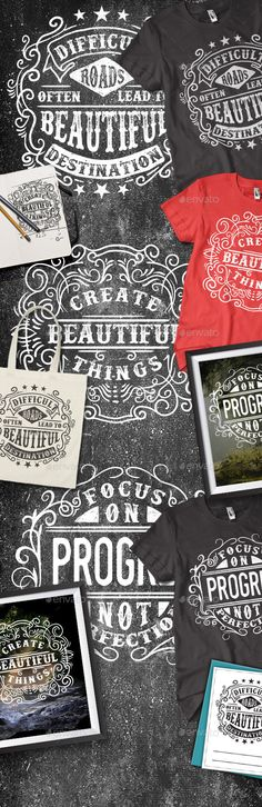 3 Typography Screenprinting And Digital T Shirt Illustration EPS AI Design Download