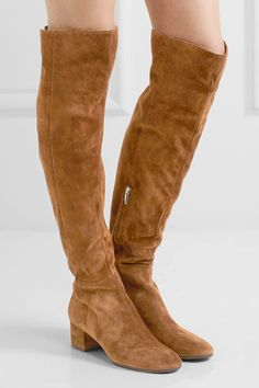 Gianvito Rossi - Suede Over-the-knee Boots - Tan - IT39.5