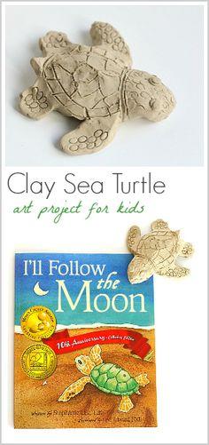 Ocean Art Activity for Kids: Make sea turtles using clay!  (Next Generation Science Standard Kindergarten: NGSS K-ESS3-1)~ BuggyandBuddy.com