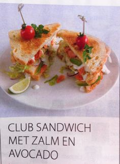Club sandwich avocado en zalm! Jammm