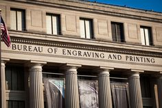 Bureau of Engraving, 14th & C Streets, SW, Washington D.C. At the Bureau of Engraving and Printing, you will see millions of dollars being printed as you walk along the gallery overlooking the production floor. The tour is approximately 40 minutes long and includes an introductory film and gallery tour of the production process. The Visitor Center includes exhibits and currency products for sale. No admission fee.