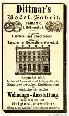 Original-Werbung/ Anzeige 1897 - DITTMAR'S MÖBELFABRIK - BERLIN / MOLKENMARKT 6…