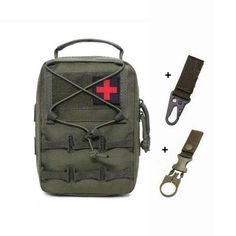 Tactical Pouches, Molle Pouches, Medical Bag, Survival Tools, First Aid Kit, Army Green, Edc, Military, Backpacks