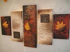 Resultado de imagen para cuadros de hojas de otoño