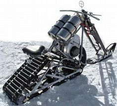 Snowmobile chopper